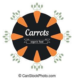 Carrot vegetables illustration.