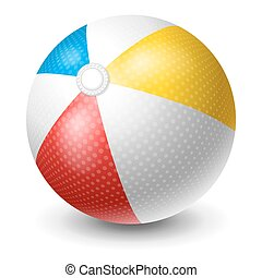 Beach Ball - Colorful Beach Ball Bright And Glossy Ball For...