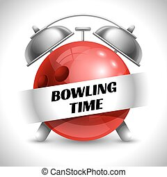 Bowling Time. Concept on Sport Bowling Theme. Time to Play...