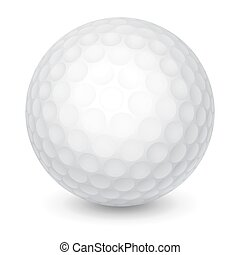Golf Ball - White Golf Ball. Realistic Vector Illustration....
