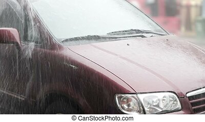 quot;Heavy Rain and Roof Runoff on a Parked Car, with...