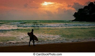 Surreal Colors of a Tropical Seascape as Sunset Approaches -...