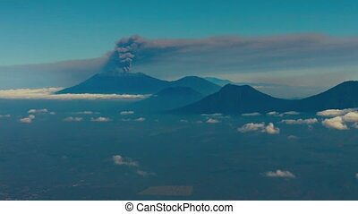 """Distant Smoke Column from Ruang Volcano in Bai, Indonesia""..."