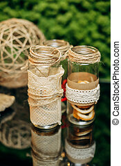 decorative glass bottles - decorated glass bottles lace,...
