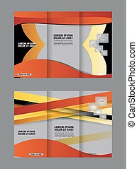 brochure design template vector tri-fold geometric abstract...