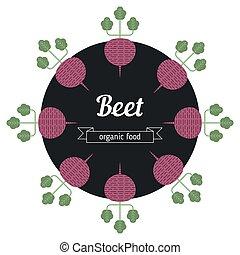 Beet vegetables illustration.