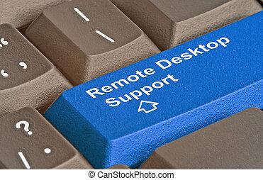 Key for remote desktop support