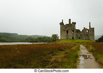 Kilchurn Castle panorama, Scotland - View of Kilchurn Castle...