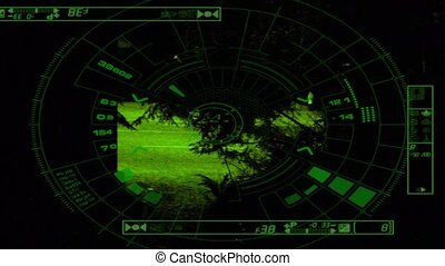 CCTV Car Tracked At Night - Car tracked by night vision cctv...