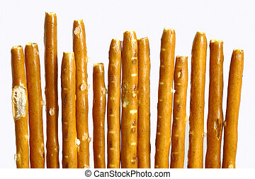 pretzel sticks - german pretzel sticks isolated on the white...