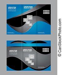 Corporate Business Tri-Fold Mock up Brochure Design