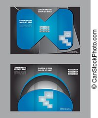 brochure design template vector tri-fold