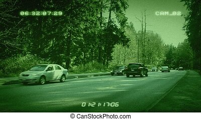CCTV Forest Highway - CCTV Cars On Road Through Forest