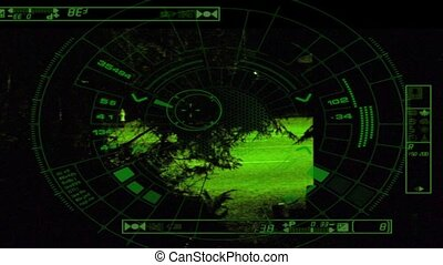 CCTV Truck Tracked At Night - Truck tracked by night vision...