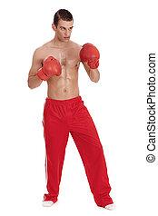 Aggressive boxing men