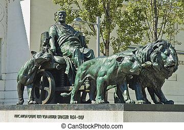Vienna, Austria - Marc Anton statue next to Viennas...
