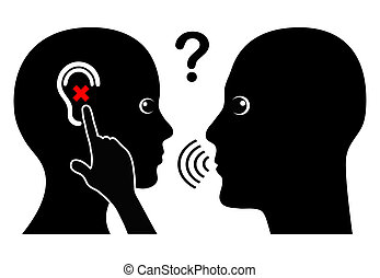 Woman with Hearing Loss - Communication problem with hearing...