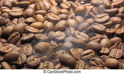 Coffee - Close-up of roasted coffee beans