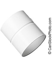 Isolated Pvc Pipe Coupler, Studio Shooting, White Background
