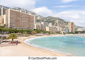 Monte Carlo beach - Beautiful Monte Carlo beach, Monaco....