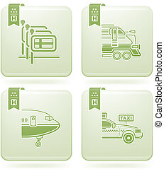 Olivine 2D Squared Icons Set: Hotel - Various hotel icons:...