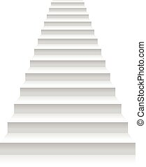 Staircase on a white background