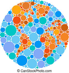 Colorful circle globe - Globe outline made from colourful...