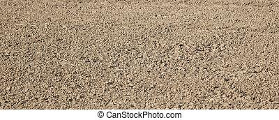 fresh plowed field - pattern of fresh plowed field gives a...
