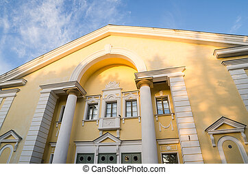 House of Culture in Sillamae. The architecture of the Stalin...