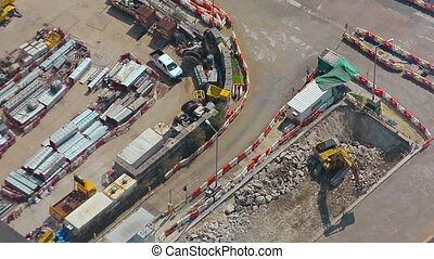 Abstract Timelapse View of an Excavator at Work FullHD video...