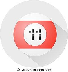 billiards ball number eleven symbol - Creative design of...