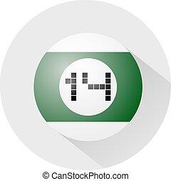 billiards ball number fourteen symbol - Creative design of...
