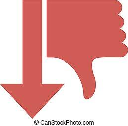 dislike arow symbol - Creative design of dislike arow symbol