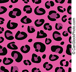 Seamless pink leopard texture - Seamless tiling animal print...