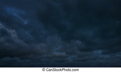"""Ominous, Dark Clouds Drifting across the Sky. Video 1080p""..."