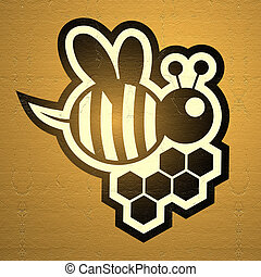 golden bee - Creative design of golden bee