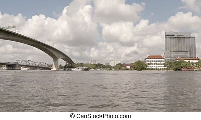 "Underside of Bridges from a Passenger Boat. - ""Low angle..."