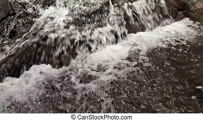 Water in small mountain river - Water in the small mountain...