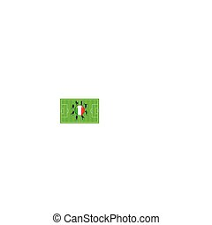 Italy Flag Icon Internet Button with Soccer Match