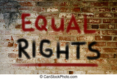 Equal Rights Concept