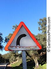 danger cuve sign - Creative design of danger cuve sign