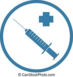 injection medical symbol - Creative design of injection...