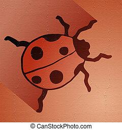 nice ladybug - Creative design of nice ladybug