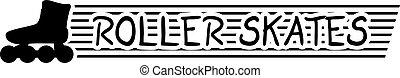 roller skates sign - Creative design of roller skates sign
