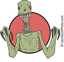 ugly alien draw - Creative design of ugly alien draw