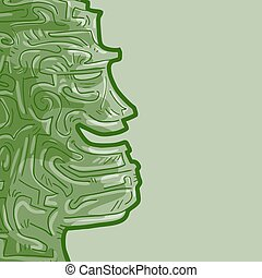 Green face talisman - Creative design of Green face talisman