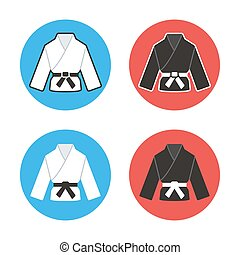 Martial arts icon - Martial arts competition icons. Two...