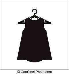 Black little dress on hanger