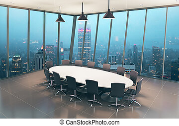 Boardroom interior tile - Boardroom interior design with...