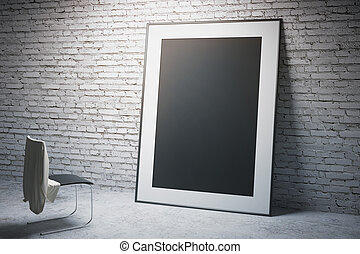 Black frame and chair